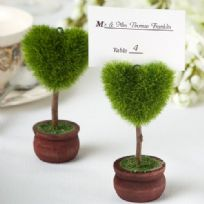 Unique Heart Topiary Tree Place Card Holder